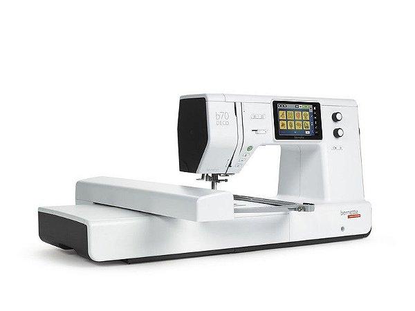 Maquina de Bordados Bernette B70 area de trabalho 26 x 16 cm + Kit de Linhas Madeira