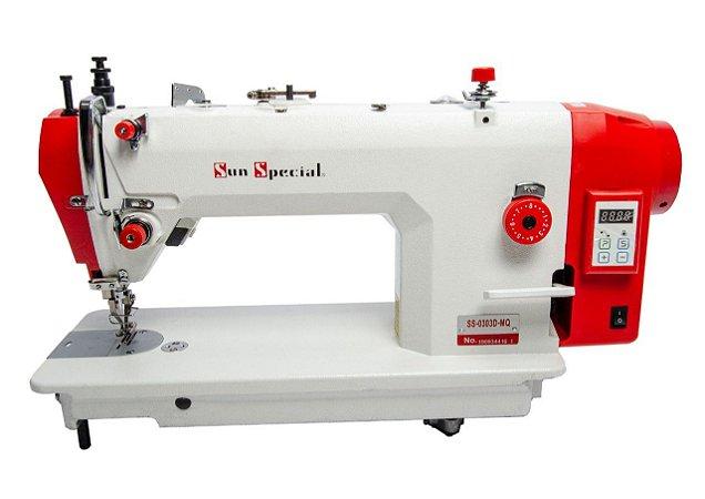 Máquina Reta Transporte Duplo Sunspecial Direct Drive SS0303D-MQ - 110 V Com Kit de Calcador de Vivo