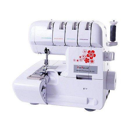 Máquina de Costura Doméstica Overloque Ponto Cadeia Portátil Sun Special  SS320 Branca - 220 V