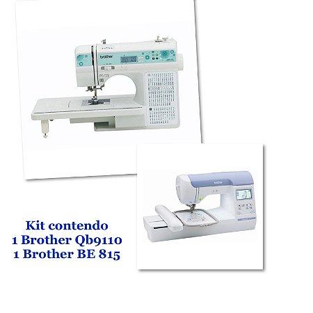 Kit Empreendedor com 1 Bordadeira Brother Be 815 + 1 Maquina de Costura Brother Qb 9110- Autovolt Pré Venda