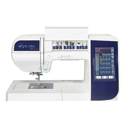 Máquina de Costura e Bordado Elna eXpressive 860 com 200 pontos de costura e Area de Bordado 17x20 cm