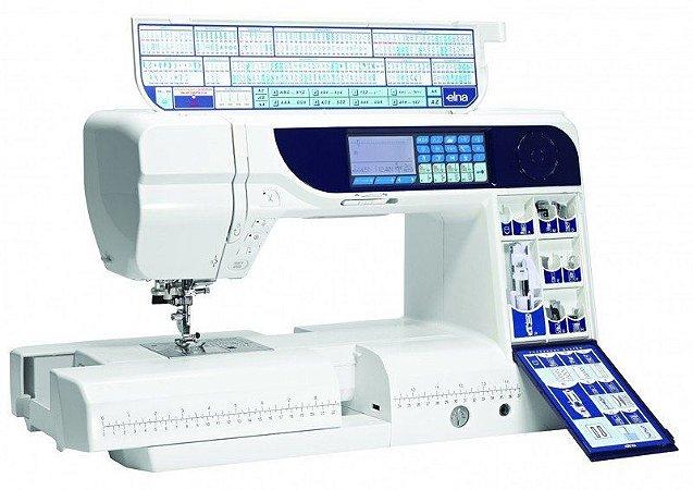 Máquina de costura eletrônica Elna 740 Excellence 240 Pontos - Autovolt