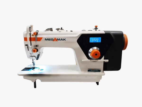 MAQUINA DE COSTURA RETA ELETRONICA MEGAMAK MODELO MK-H5 - 110 V COM KIT DE CALCADORES