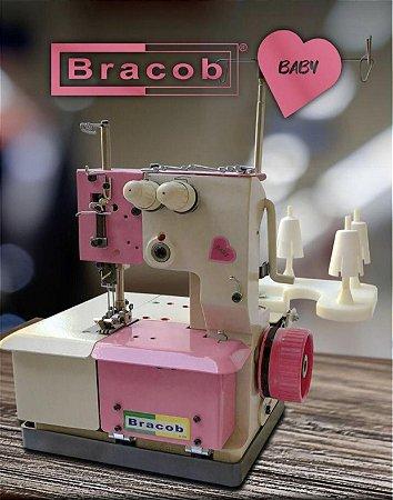 Máquina de costura Galoneira Bracob 2 agulhas semi industrial BC 2600-2 Baby- 220 V
