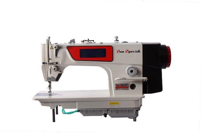 MAQUINA RETA ELETRONICA SUNSPECIAL SS2800-D4-BA-QI CARTER BLINDADO FACA DUPLA - 220 V