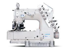 Máquina de Costura Direct-Drive de 4 Agulhas 8 fios Base Cilíndrica ponto Corrente Duplo Jack Eletronica JK-8009VCDII-0408P- UT/PL - 220V