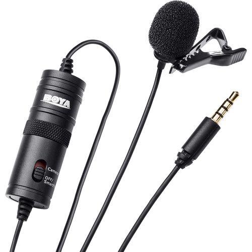 Microfone de lapela BOYA BY-M1 - com fio