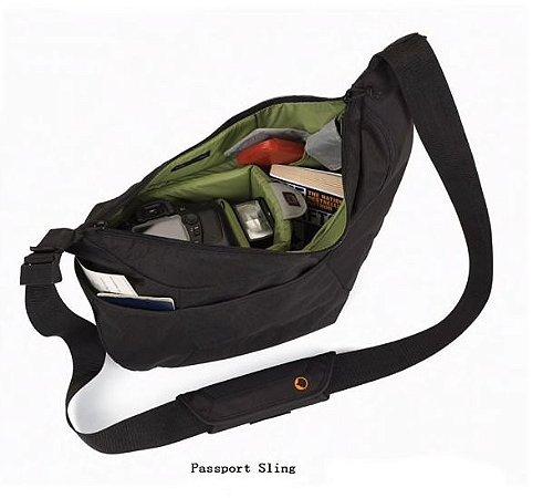 Bolsa para equipamentos Lowepro Passport Sling Preta