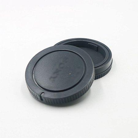 Tampa de lente e câmera Sony E-Mount