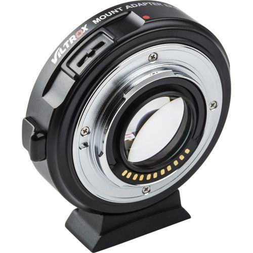 Adaptador de Lentes EF para câmera Micro 4/3 Viltrox EF-M2 II Speedbooster 0,71x