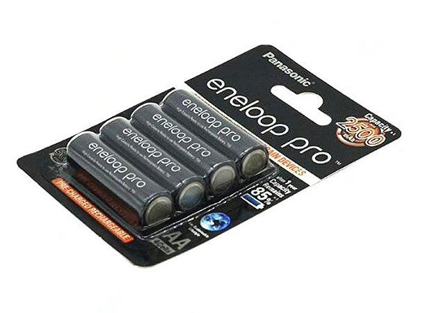 Pilha Recarregável AA 2500mAh x 4 (similar Panasonic Eneloop Pro)