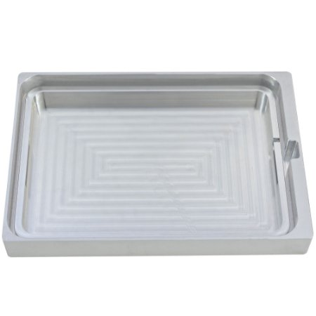 Suporte de Alumínio para Bandeja Plástica Retangular Grande 326x226x20mm - SKINPACK