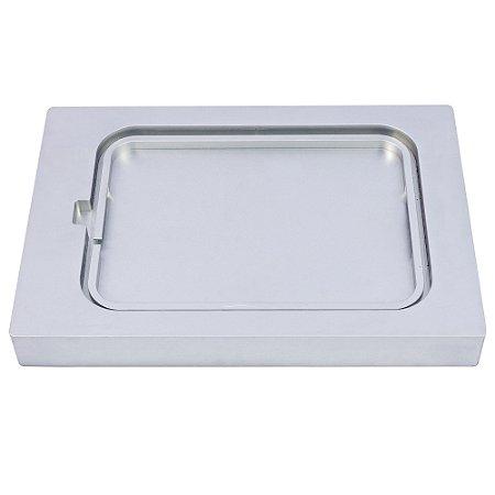 Suporte de Alumínio para Bandeja Plástica Pequena Rasa 260x185x10mm - SKINPACK