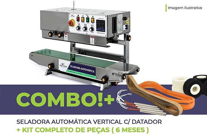 Seladora Automática Vertical com Datador + Kit Completo de Peças (6 meses)