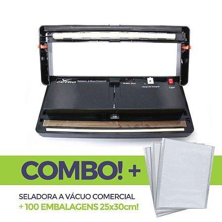 Seladora a Vácuo Comercial + 100 embalagens 25x30