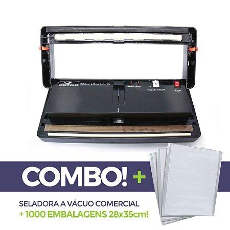 Seladora a Vácuo Comercial + 1000 embalagens 28x35