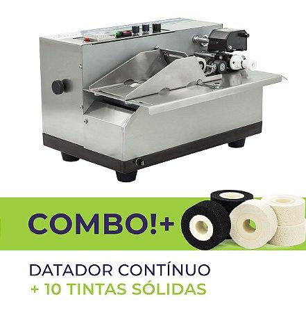 Datador Automático Contínuo (Hot Stamping) + 10 Tintas Sólidas