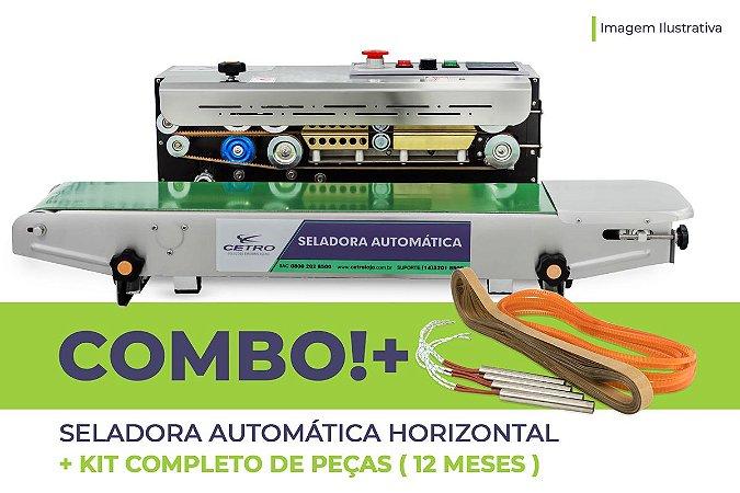 Seladora Automática Horizontal + Kit Completo de Peças (12 meses)