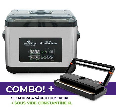 Seladora a Vácuo Comercial + Sous vide Constantine 6 L + Brinde