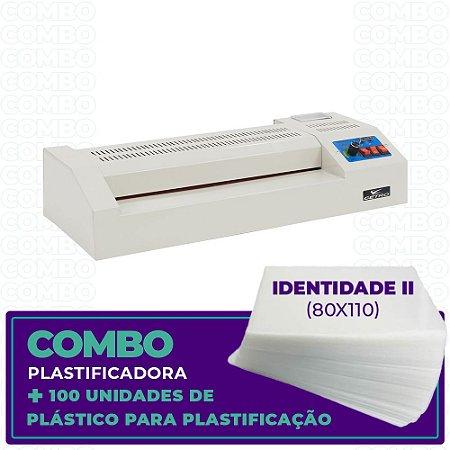 Plastificadora + 100 Unidades  (Identidade II - 80x110)