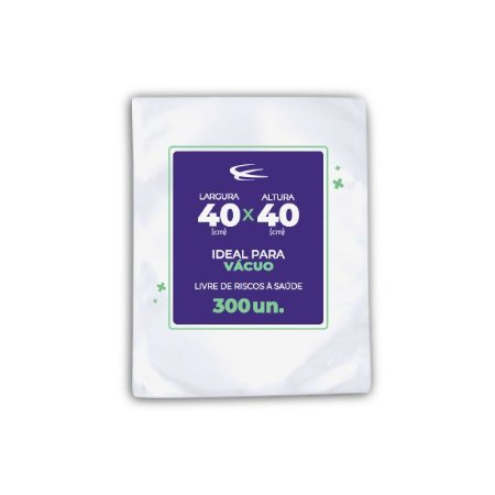 Embalagem a vácuo 40x40 - 300 Unidades