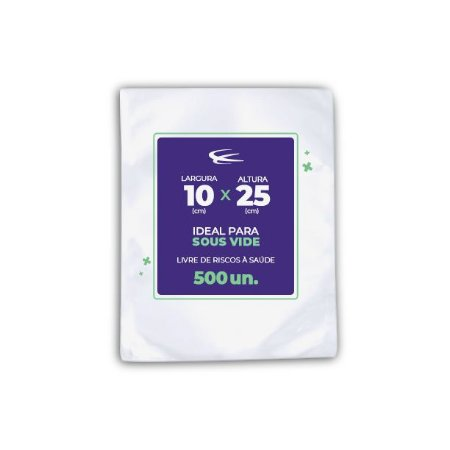 Embalagem Sous Vide 10x25 - 500 Unidades