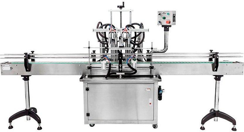 Envasadora de Líquidos Automática em Linha - 50-500 ML (2-4-6-8 Bicos)