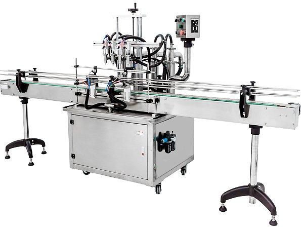 Envasadora de Liquidos Automatica em Linha - 300-2500 ML (2-4-6-8 Bicos)