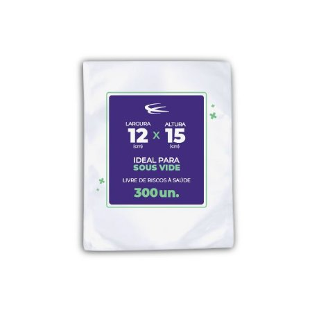 Embalagem Sous Vide 12x15 - 300 Unidades