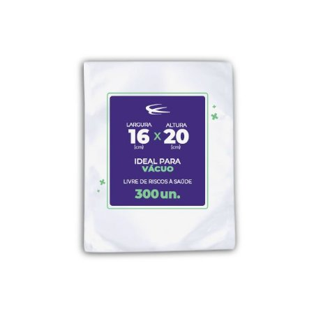 Embalagem a Vácuo 16x20 - 300 Unidades