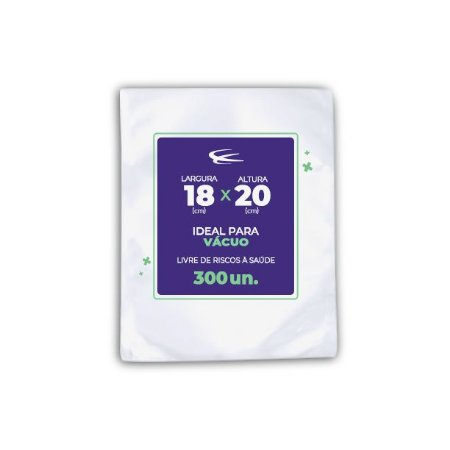 Embalagem a Vácuo 18x20 - 300 Unidades