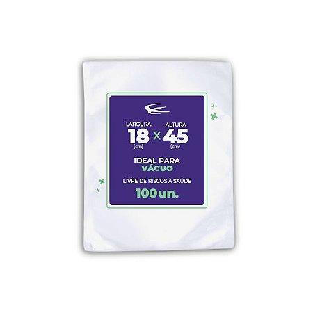 Embalagem a Vácuo 18x45 - 100 Unidades