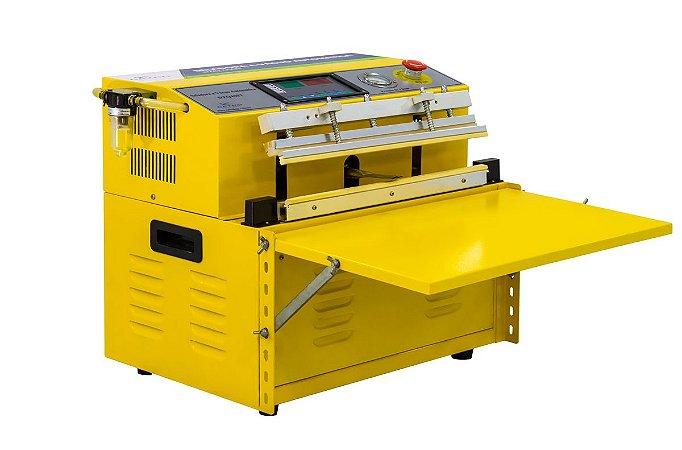 Seladora a Vacuo de Bico de Succao Industrial automatica DZQ400TE C/ A-T-M