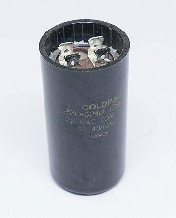 Capacitor 270 - 324µF P/ Motor do Abast. da Dosadora Automática para Pó - 220v