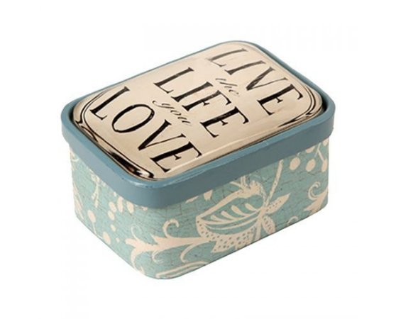 Caixa Decorativa - Metal - Live Love