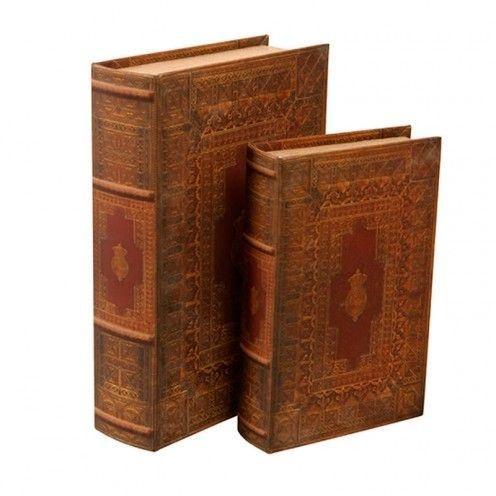 Conjunto de Livros Decorativos - Crown - 2 und