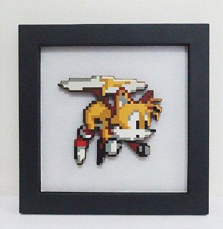 Quadro Tails em pixel art