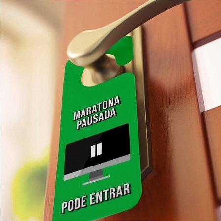 Aviso de porta Maratona