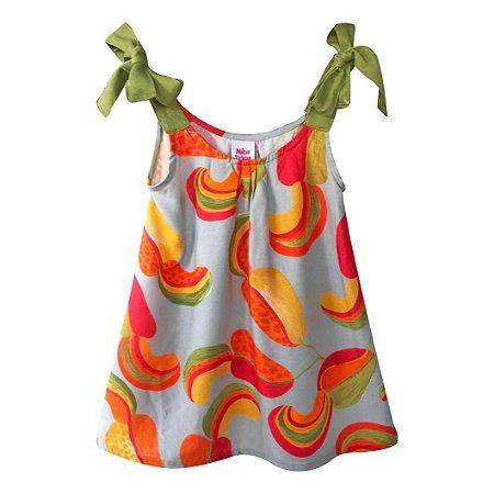 Vestido infantil alça caju