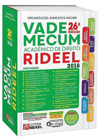 VADE MECUM ACADÊMICO DE DIREITO – 2018 - ANNE JOYCE ANGHER