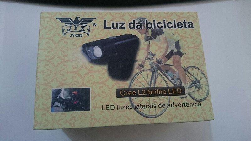 Farol Lanterna Jy 263 Bike Recarregável USB Jyx Led L2 Jws
