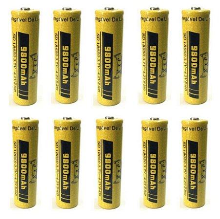 Kit 10 Baterias jyx 18650 9800Mah Top 2021