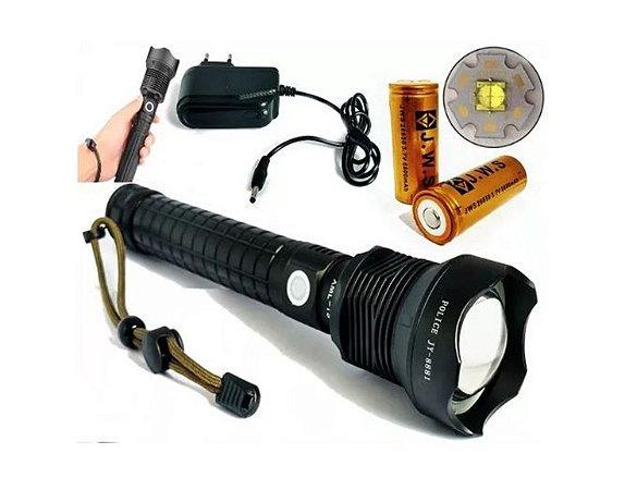 Lanterna Mais Forte Do Mercado Led T9 5.400.000 L 2 Baterias jyx 8881