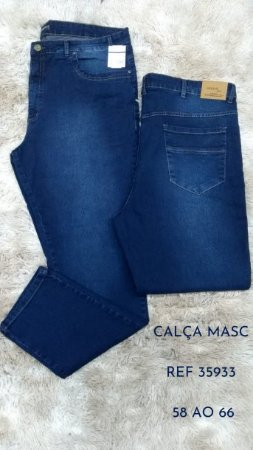 Calça Jeans Masculina Plus Size Sujinha