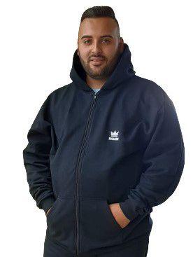 Blusa Moletom  Capuz Masculina Plus Size Bigmen