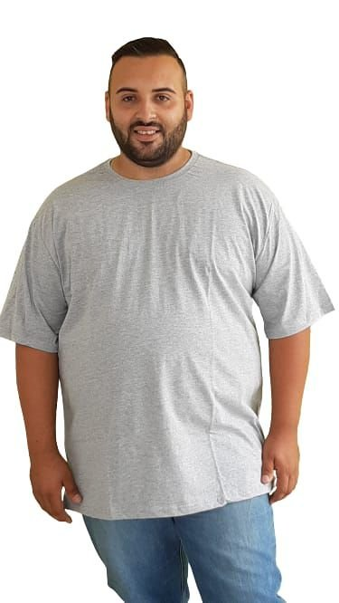 Camiseta Básica Masculina  Plus Size Algodão Mescla