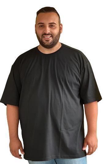 Camiseta Básica Masculina  Plus Size Algodão Preto
