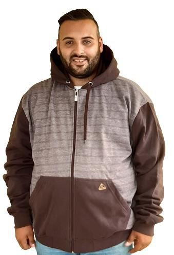 Jaqueta de Moletom Plus Size Masculina Bigmen