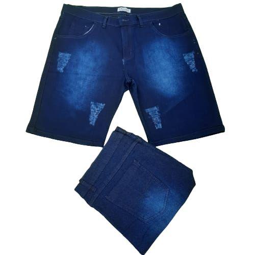 Bermuda jeans Masculino Plus size Elastano