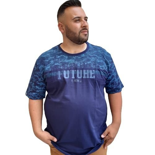 Camiseta Plus Size Masculina  Bigmen Camuflada